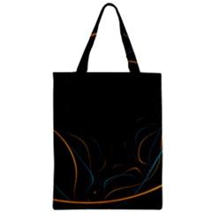 Fractal Lines Zipper Classic Tote Bag