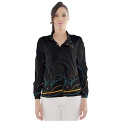 Fractal Lines Wind Breaker (Women)