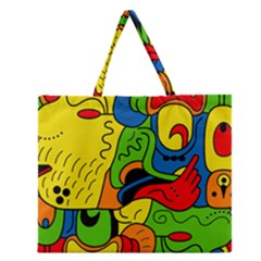 Mexico Zipper Large Tote Bag