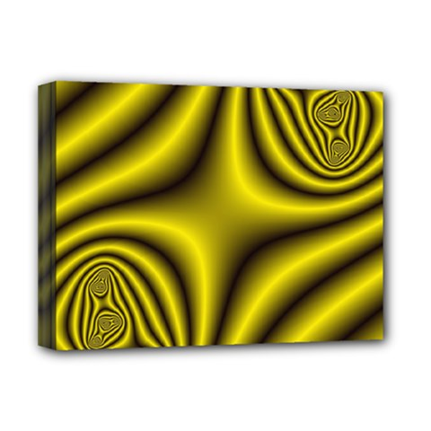 Yellow Fractal Deluxe Canvas 16  x 12