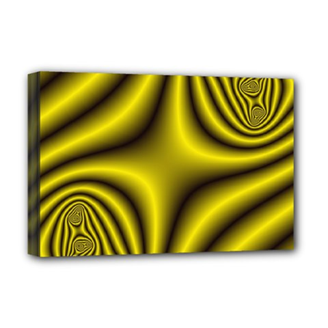 Yellow Fractal Deluxe Canvas 18  X 12