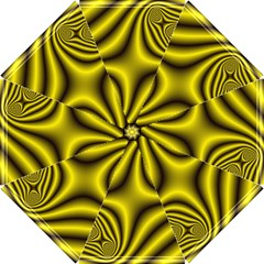Yellow Fractal Hook Handle Umbrellas (Small)