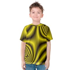 Yellow Fractal Kids  Cotton Tee