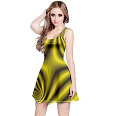 Yellow Fractal Reversible Sleeveless Dress
