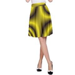 Yellow Fractal A-Line Skirt