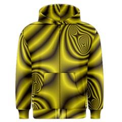 Yellow Fractal Men s Zipper Hoodie