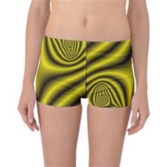 Yellow Fractal Reversible Bikini Bottoms