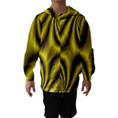 Yellow Fractal Hooded Wind Breaker (Kids)