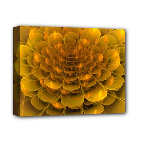 Yellow Flower Deluxe Canvas 14  x 11