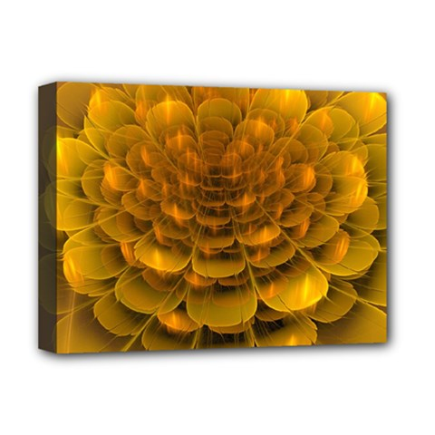 Yellow Flower Deluxe Canvas 16  X 12