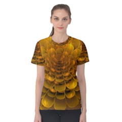 Yellow Flower Women s Cotton Tee