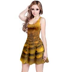 Yellow Flower Reversible Sleeveless Dress