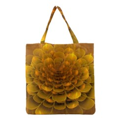 Yellow Flower Grocery Tote Bag