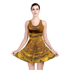 Yellow Flower Reversible Skater Dress