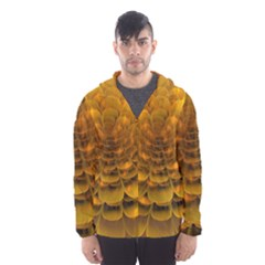 Yellow Flower Hooded Wind Breaker (men)