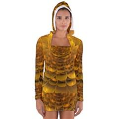 Yellow Flower Women s Long Sleeve Hooded T Shirt