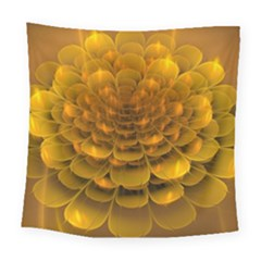 Yellow Flower Square Tapestry (large)