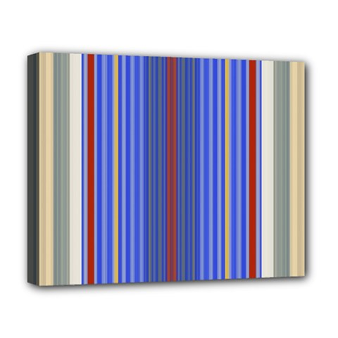 Colorful Stripes Deluxe Canvas 20  X 16
