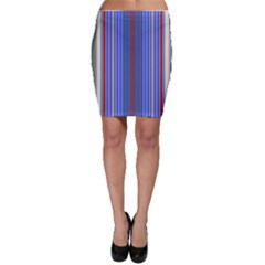 Colorful Stripes Bodycon Skirt