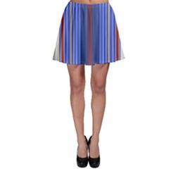 Colorful Stripes Skater Skirt