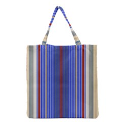 Colorful Stripes Grocery Tote Bag