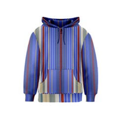Colorful Stripes Kids  Zipper Hoodie