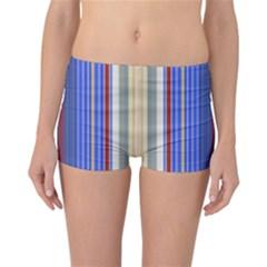 Colorful Stripes Reversible Bikini Bottoms