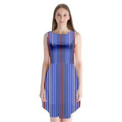 Colorful Stripes Sleeveless Chiffon Dress