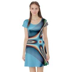 Fractal Beauty Short Sleeve Skater Dress
