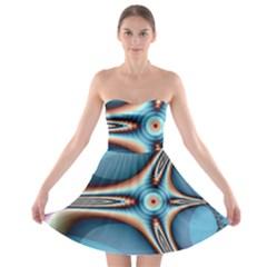 Fractal Beauty Strapless Bra Top Dress