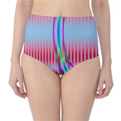 Fractal Tree High Waist Bikini Bottoms