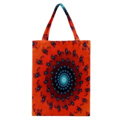 Red Fractal Spiral Classic Tote Bag