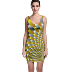 Fractal Spiral Sleeveless Bodycon Dress