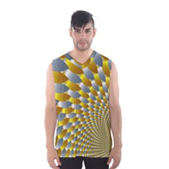Fractal Spiral Men s Basketball Tank Top