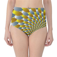 Fractal Spiral High-Waist Bikini Bottoms