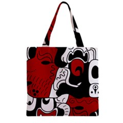 Mexico Zipper Grocery Tote Bag