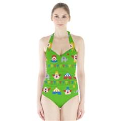Circus Halter Swimsuit