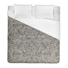 Silver Tropical Print Duvet Cover (Full/ Double Size)