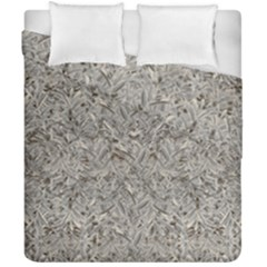 Silver Tropical Print Duvet Cover Double Side (California King Size)