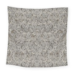 Silver Tropical Print Square Tapestry (Large)