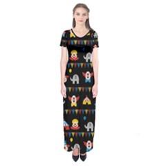 Circus Short Sleeve Maxi Dress