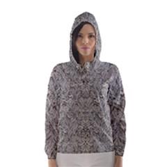 Silver Tropical Print Hooded Wind Breaker (Women)