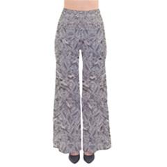 Silver Tropical Print Pants