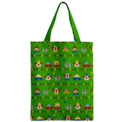 Circus Zipper Classic Tote Bag