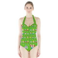 Circus Halter Swimsuit