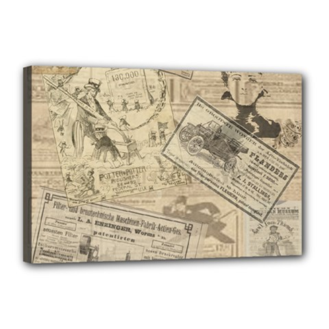 Vintage newspaper  Canvas 18  x 12