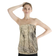 Vintage newspaper  Strapless Top