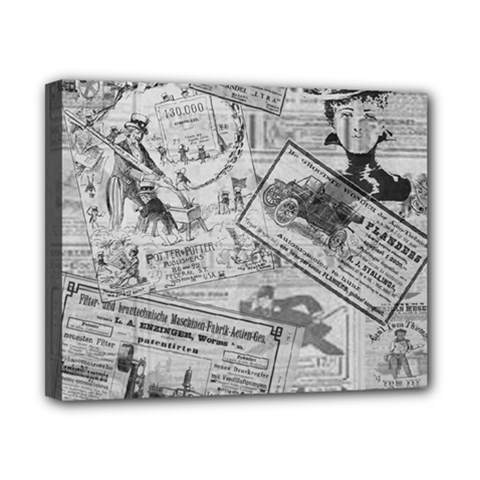 Vintage newspaper  Canvas 10  x 8