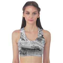 Vintage newspaper  Sports Bra
