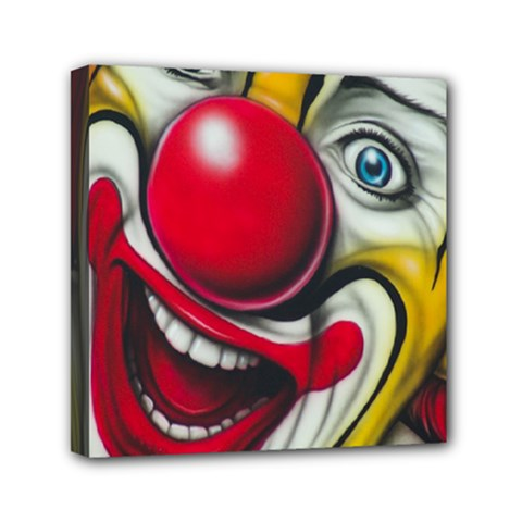 Clown Mini Canvas 6  x 6